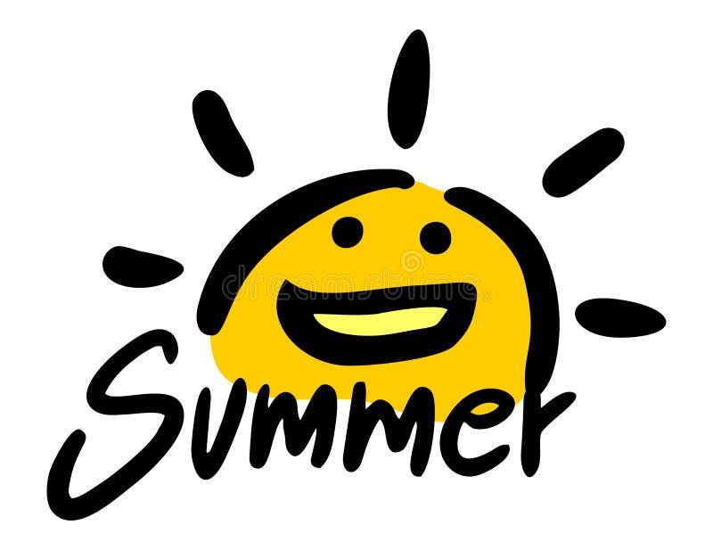Śmieszny lato symbol royalty ilustracja