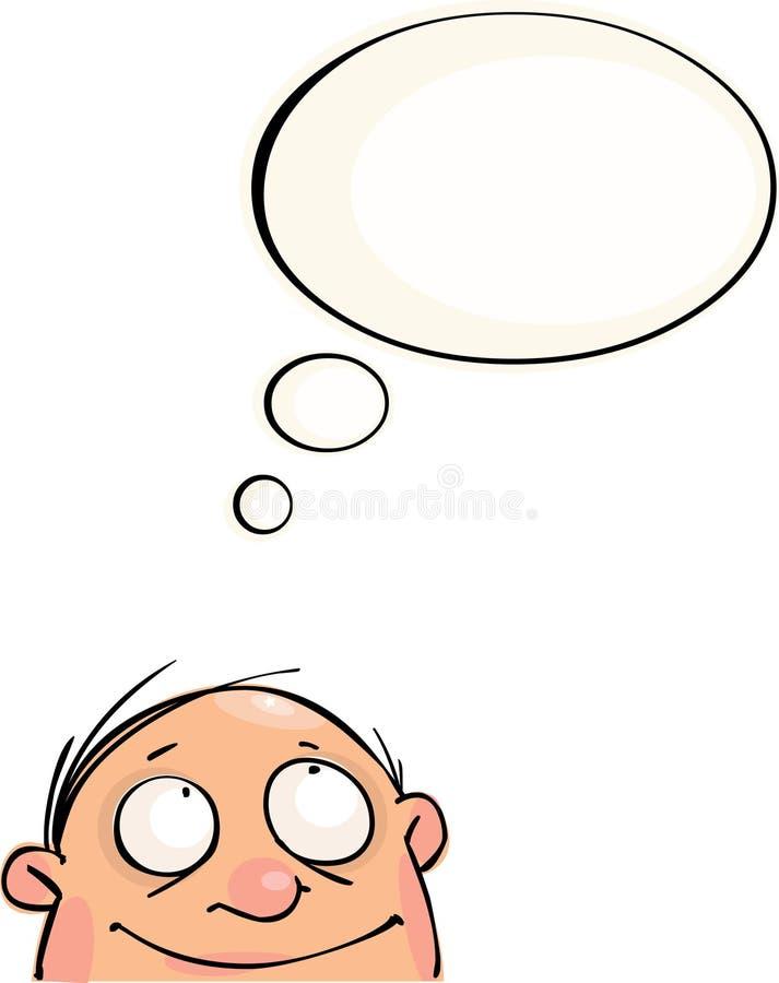 śmieszny mężczyzna ilustracji