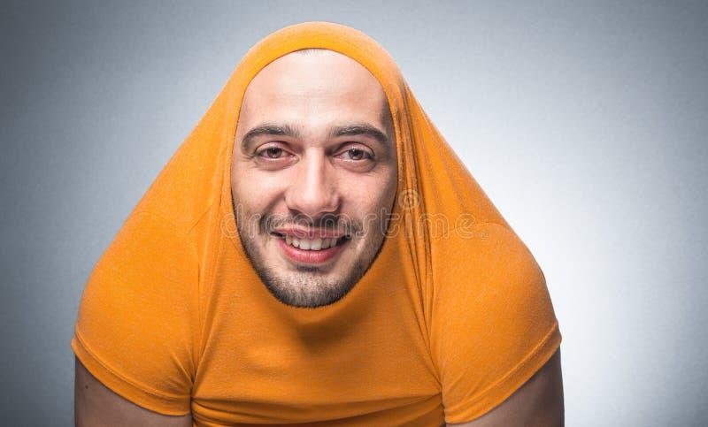 Śmieszny mężczyzna, odosobniony zdjęcia stock
