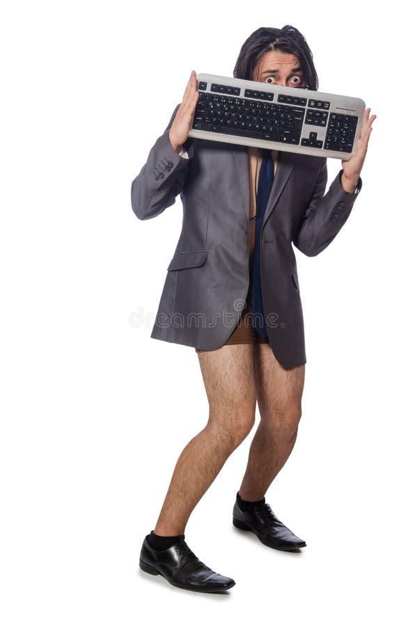 Śmieszny mężczyzna w biznesowym pojęciu obrazy stock