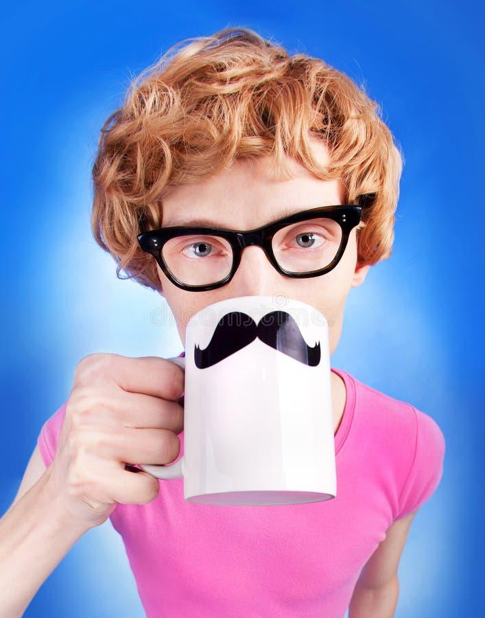 Śmieszny nerdy facet zdjęcia royalty free