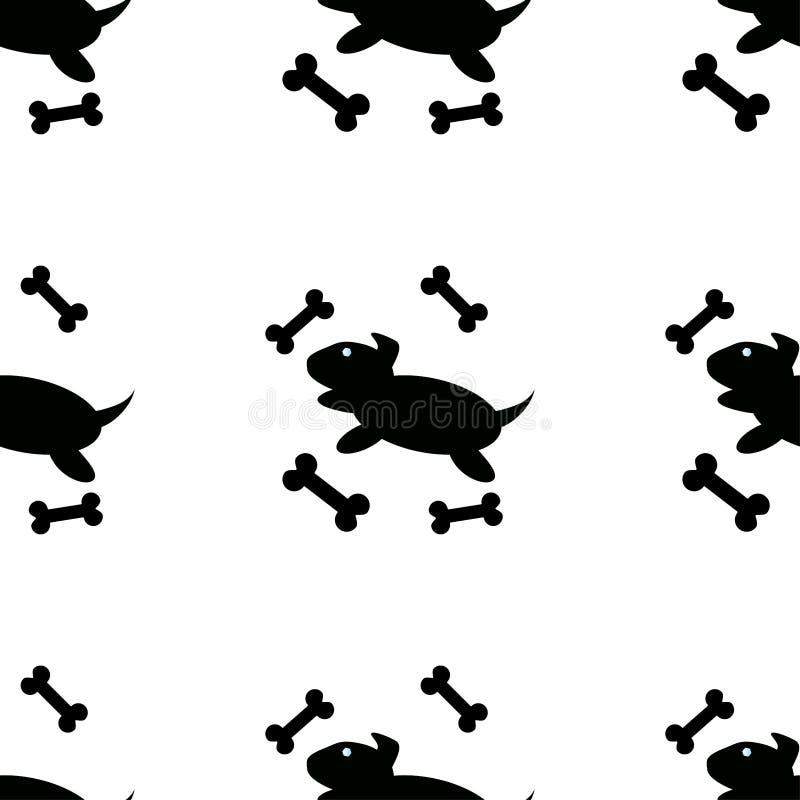 Śmieszny obrazek z szczeniakiem wektor ilustracji