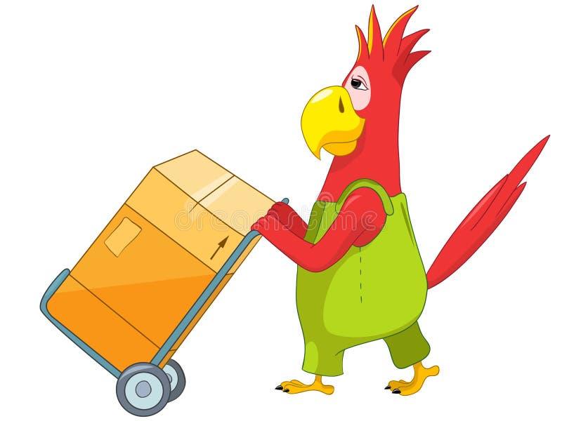 śmieszny papuzi pracownik ilustracji