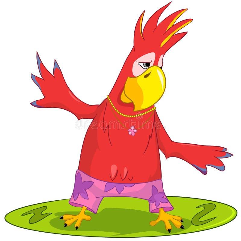 śmieszny papuzi surfing royalty ilustracja