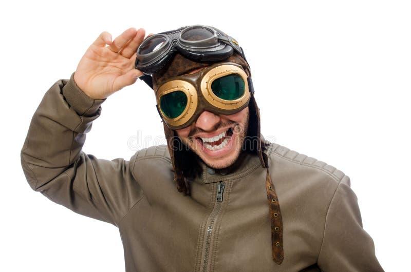 Download Śmieszny Pilot Odizolowywający Na Bielu Zdjęcie Stock - Obraz złożonej z klasyk, odosobniony: 57652638
