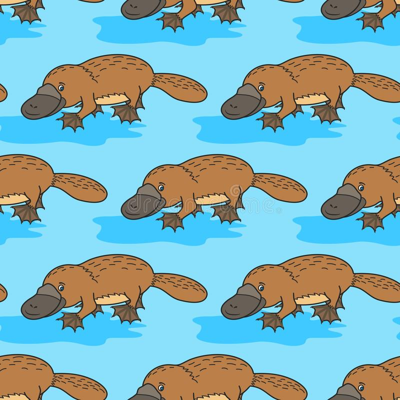 Śmieszny platypus australijczycy royalty ilustracja