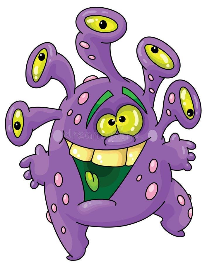 śmieszny potwór ilustracji