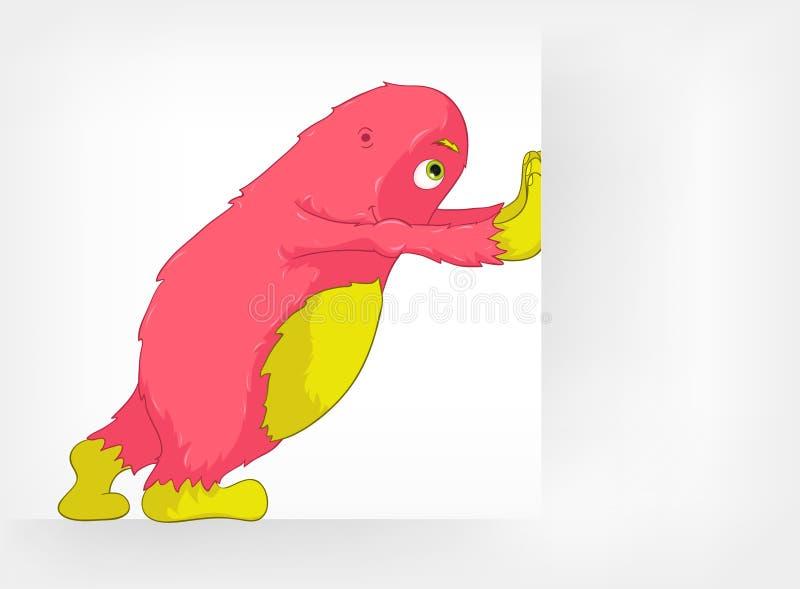 śmieszny potwór ilustracja wektor