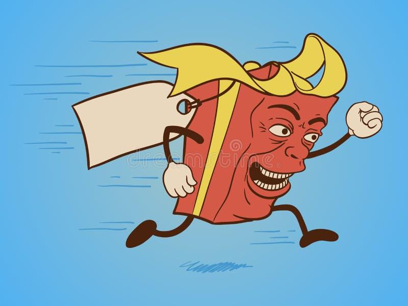 śmieszny prezenta pudełka postać z kreskówki ilustracja wektor