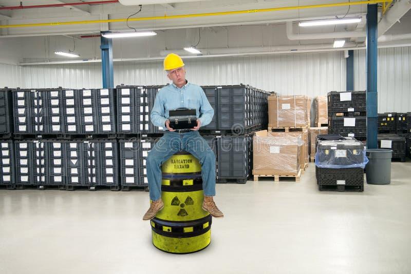 Śmieszny Przemysłowy pracownik, praca - trenujący obrazy stock