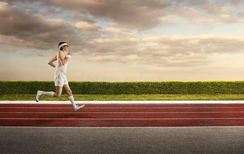 Śmieszny retro głupek jogging fotografia stock