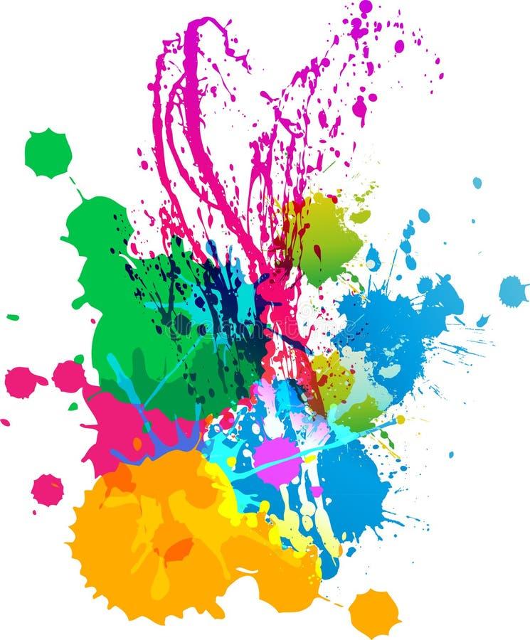 Śmieszny splatters koloru tło royalty ilustracja