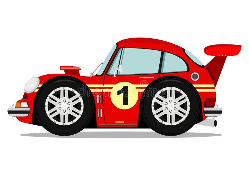 Śmieszny sporta samochód ilustracji