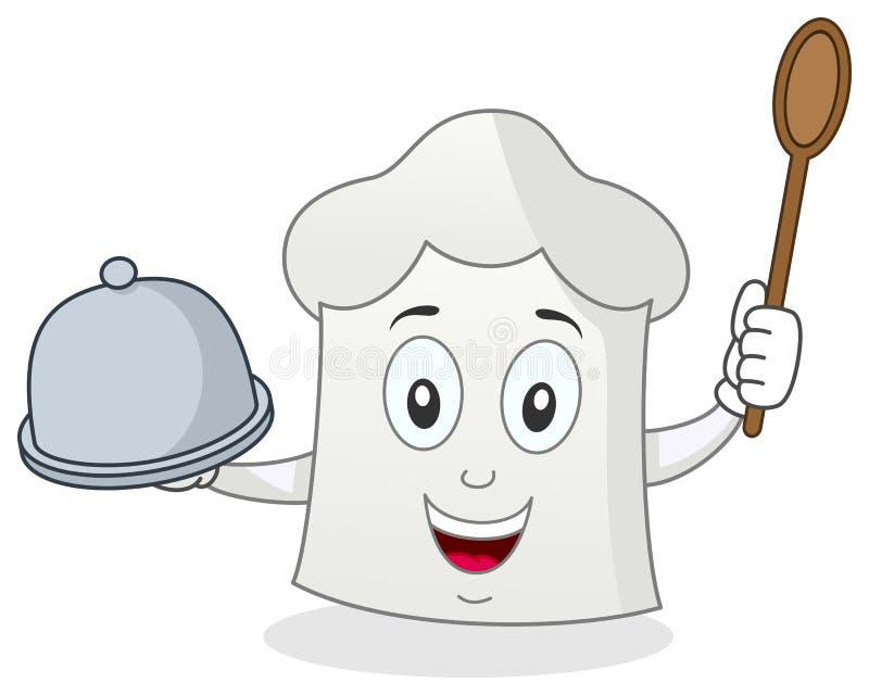 Śmieszny Szef kuchni Kapeluszu Charakter ilustracja wektor