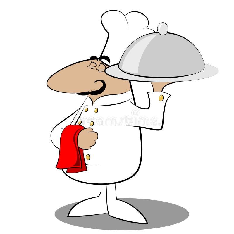 Śmieszny szefa kuchni kucharz ilustracja wektor