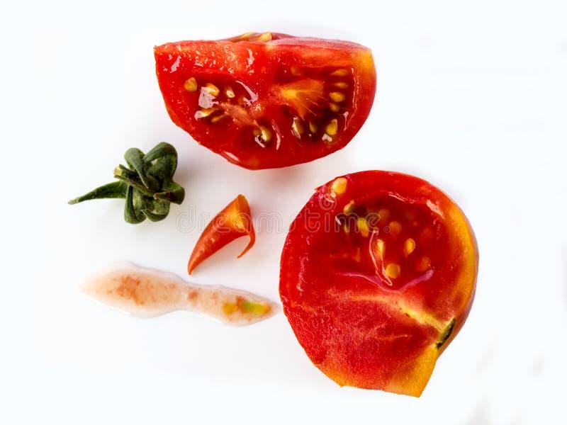 Śmieszny szpotawy pomidor zdjęcia royalty free