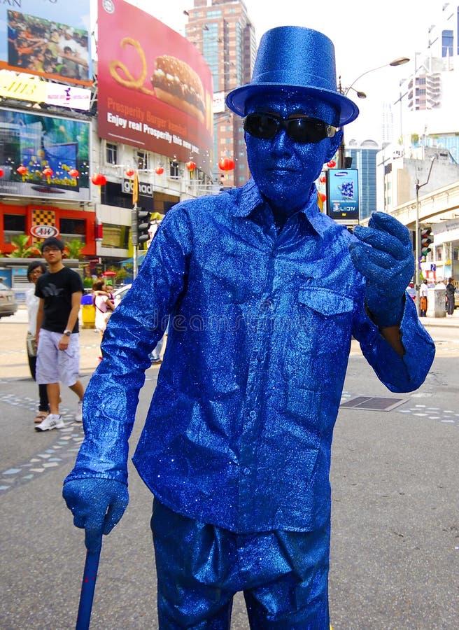 Śmieszny uliczny artysta w Malezja i Kuala Lumpur fotografia royalty free