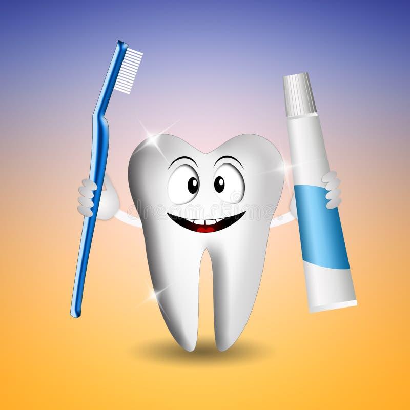 Śmieszny ząb dla dentysty ilustracja wektor