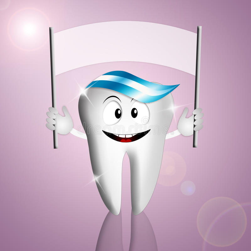 Śmieszny ząb z znakiem royalty ilustracja