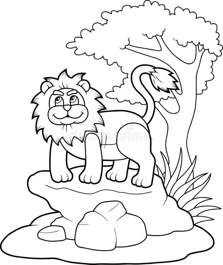Śmieszny zabawkarski lew ilustracji