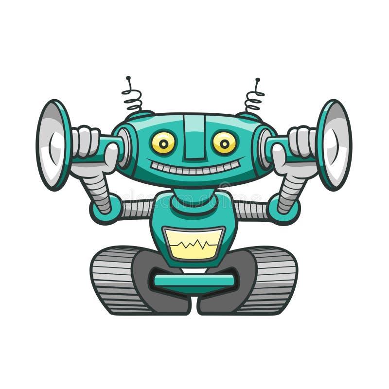 Śmieszny zielony robot fotografia royalty free