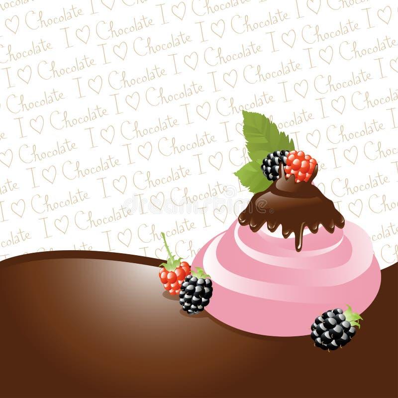 śmietanka jeżynowy czekoladowy lód royalty ilustracja