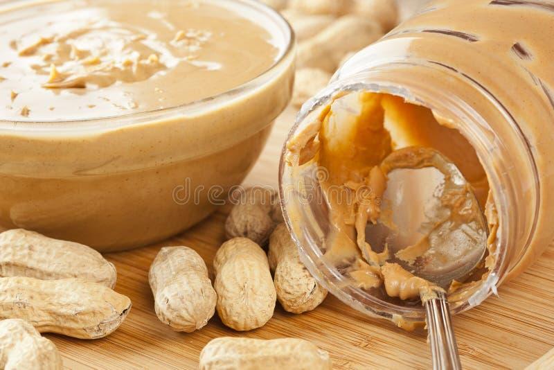 Śmietankowy Brown masło orzechowe zdjęcie stock