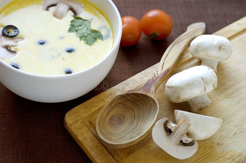 śmietankowy soupe zdjęcie royalty free