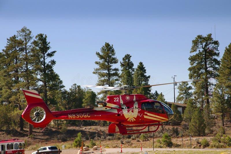 Śmigłowcowa przejażdżka nad Uroczystego jaru parkiem narodowym w Arizona jest wspaniała zdjęcie stock
