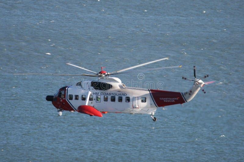 śmigłowiec brytyjska straż przybrzeżna obrazy stock
