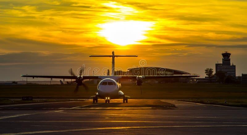 Śmigłowy samolot fotografia royalty free