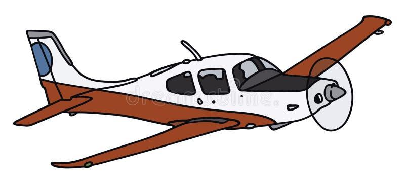 Śmigłowy samolot ilustracji