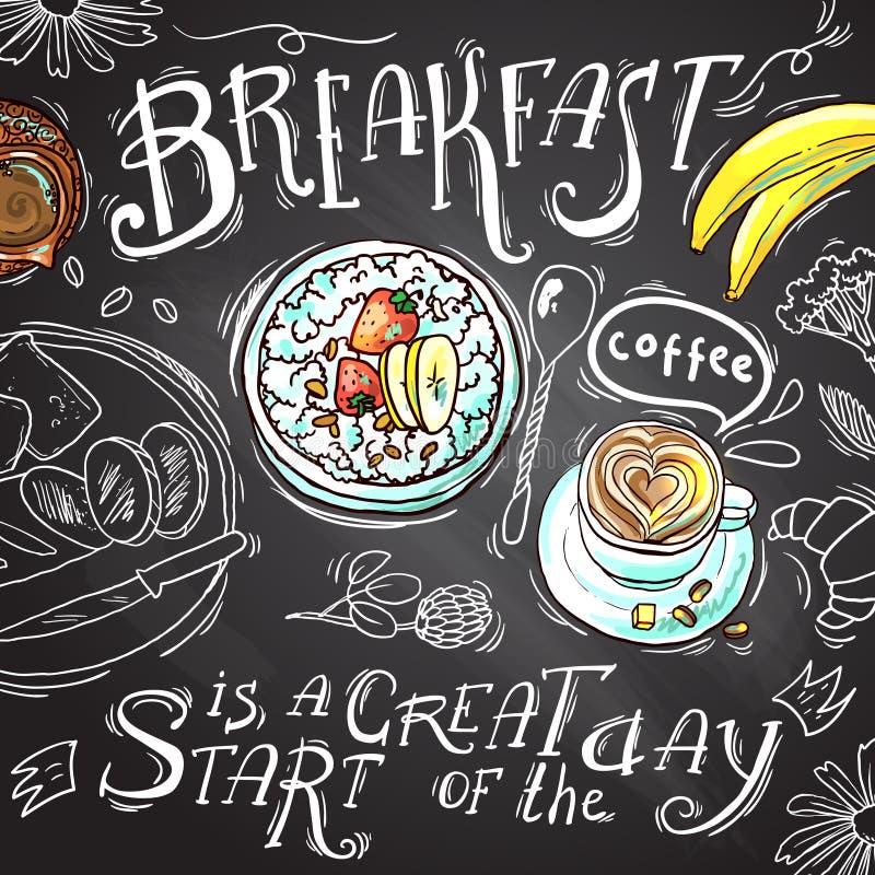 śniadanie ilustracja wektor