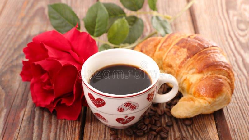 Śniadanie dla valentine obrazy stock