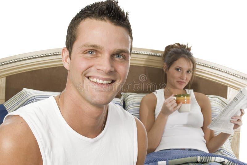 śniadanie do łóżka zdjęcia stock