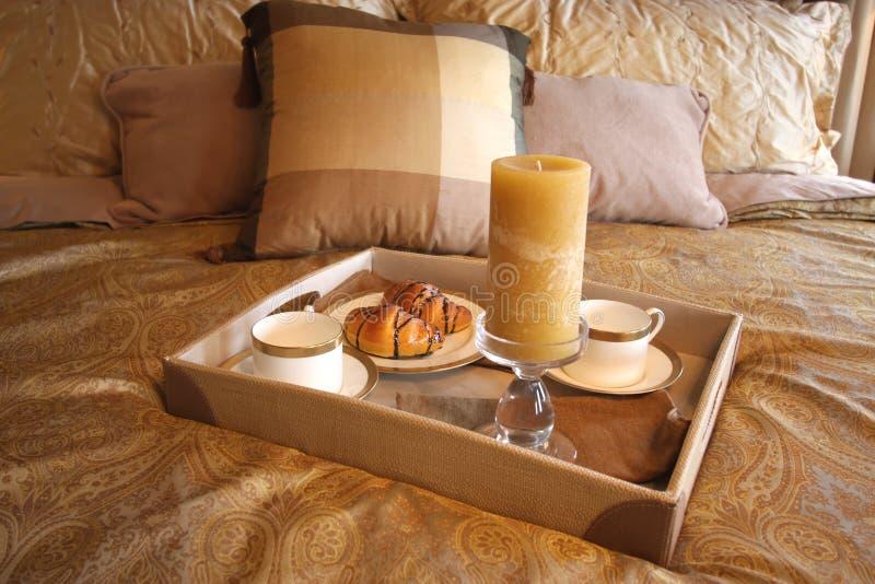 śniadanie do łóżka obraz stock