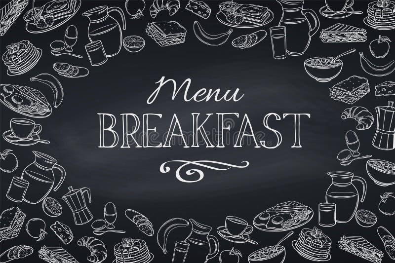 Śniadanie i śniadanio-lunch rama ilustracji