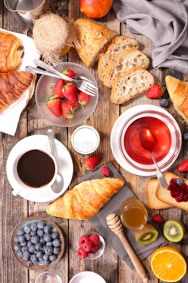 śniadanie kontynentalnej obraz stock