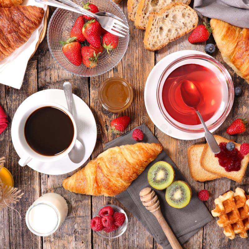 śniadanie kontynentalnej zdjęcia stock