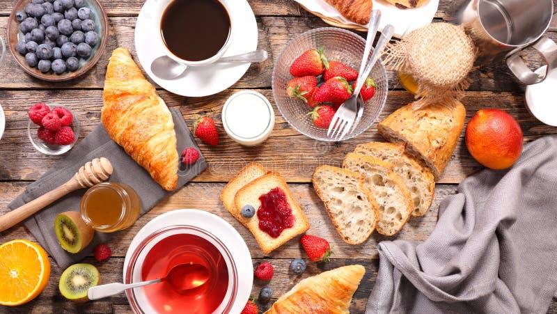 śniadanie kontynentalnej fotografia stock