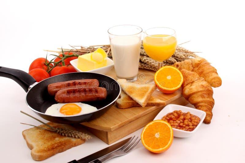 Śniadanie na biały tle zdjęcie royalty free
