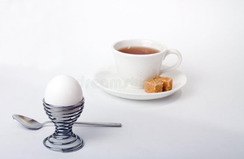 Śniadanie na bielu fotografia stock