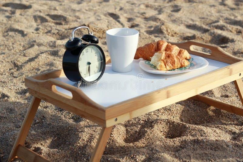 Śniadanie na plaży obrazy stock