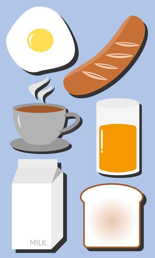 Śniadanie set obrazy royalty free