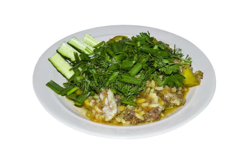 Download Śniadanie Smażący Ryż Z Zieleniami Obraz Stock - Obraz złożonej z smażący, dinner: 57671901