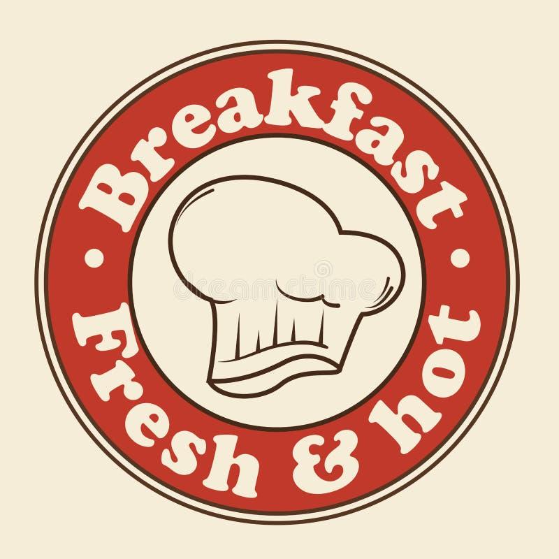 Śniadanie szyldowa ikona royalty ilustracja