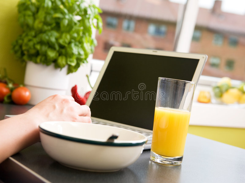 śniadanie w sieci zdjęcie stock