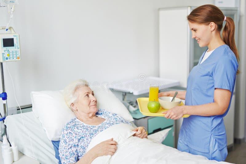 Śniadanie w szpitalu obrazy stock