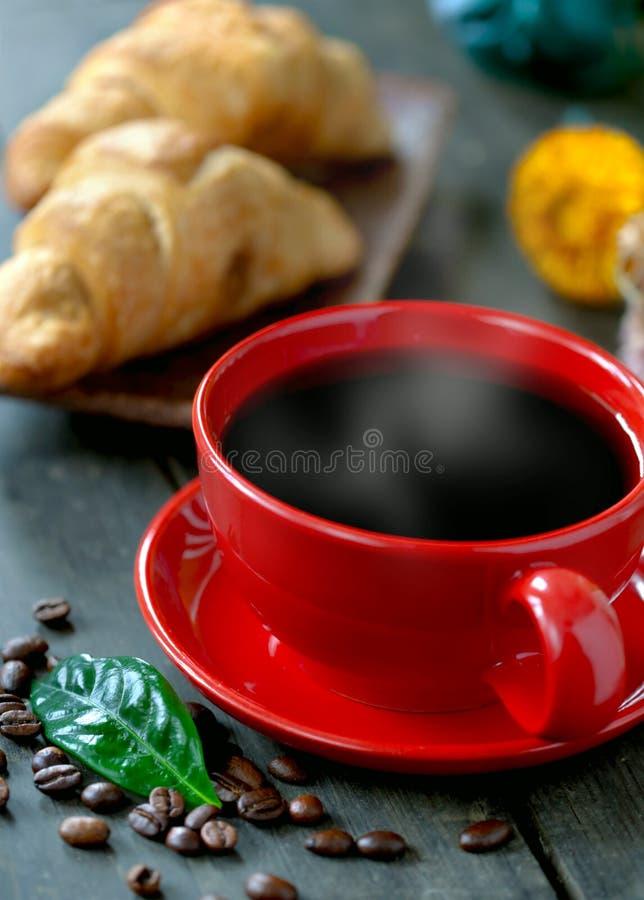 Śniadanie z filiżanką kawy fotografia stock