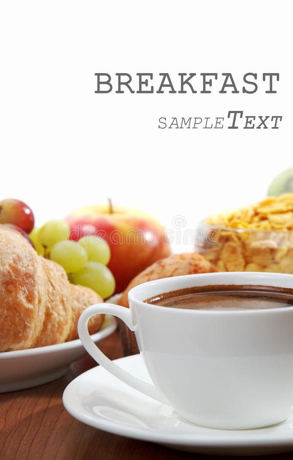 Śniadanie z kawą zdjęcie royalty free